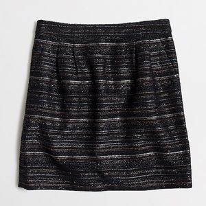 J. Crew Metallic Tweed Mini Skirt. Size 8